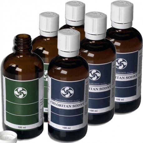 3x Chloritan sodný MMS Kvapky